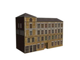 Old apartment building 3d model