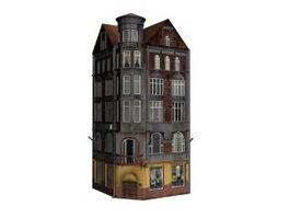 Apartment hotel 3d model