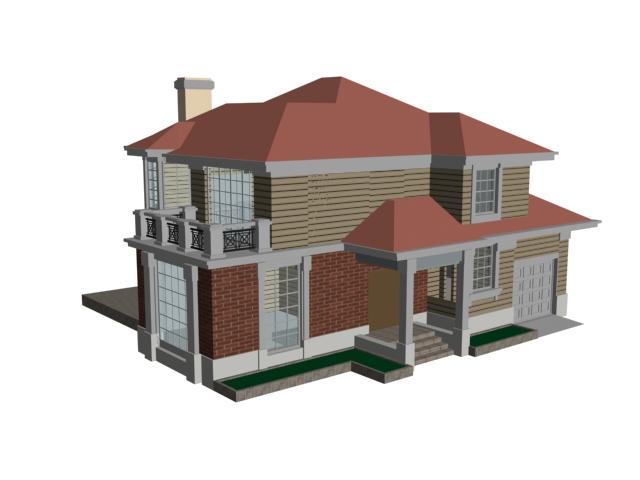 Mountain villa 3d model 3dsmax files free download for Villas 3d model