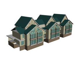Townhouse building 3d model