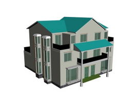 Multi-layer luxury house 3d model