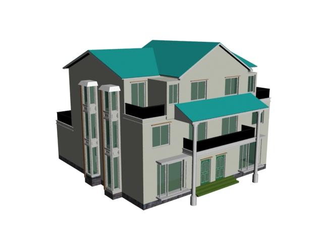 Multi Layer Luxury House 3d Model