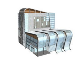 Convention center 3d model