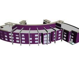 University library 3d model