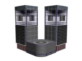 Integrated commercial building 3d model