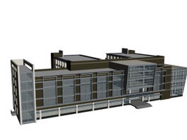 Complex office buildings 3d model