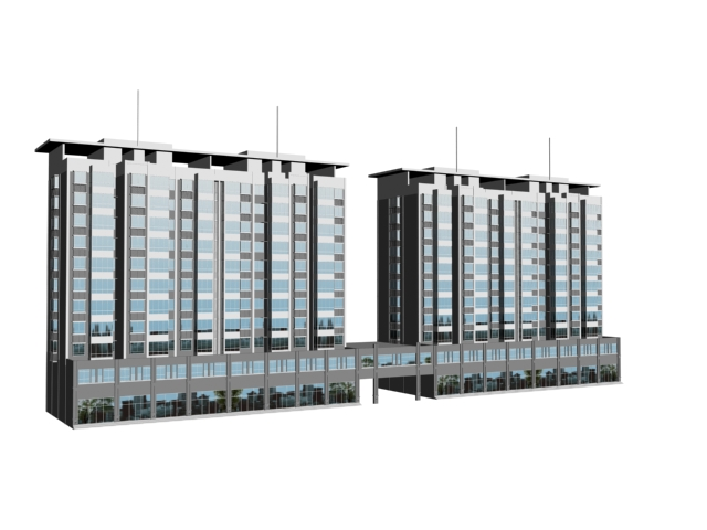 Commercial And Residential Buildings 3d Model 3dsmax Files