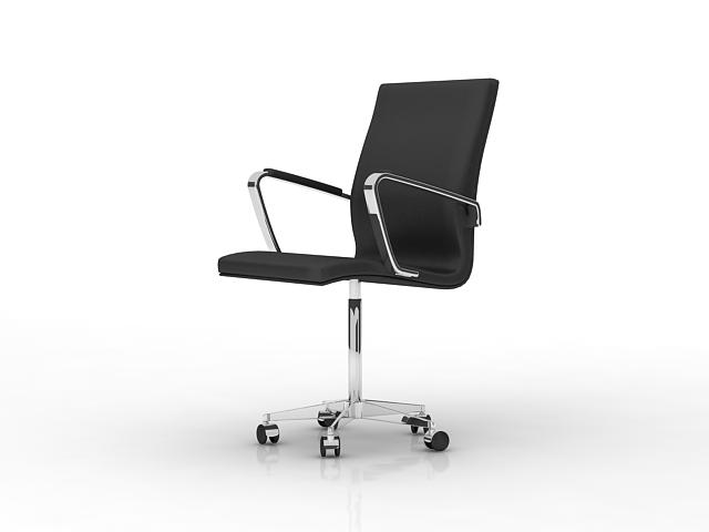 Office Armchair With Wheels 3d Model 3dsmax Files Free
