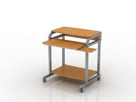 Moveable computer desk 3d model