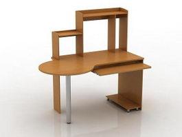 Office workstation desk 3d model