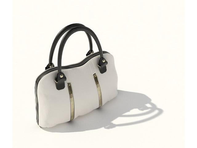 b8647e73b40b Ladies leather handbag 3d model 3dsMax files free download ...