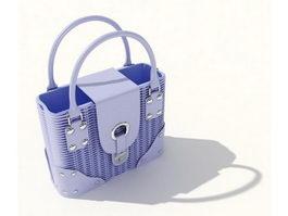 Silicone handbag 3d model