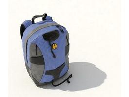 Kids backpack schoolbag 3d model