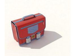 Beauty cosmetic handbag 3d model