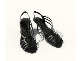 Summer sandals for lady 3d model