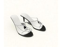 Fashion lady sandal 3d model