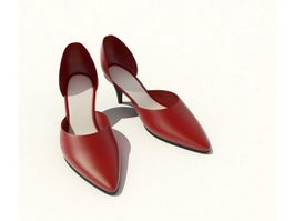 Women dress shoes 3d model
