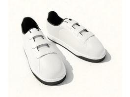 Men casual shoes 3d model