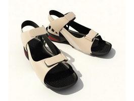 Men's leather sandals 3d model