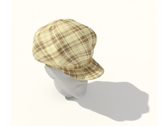 Leisure Fashion Hats 3d rendering