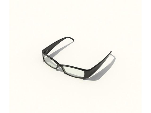 Plastic reading glasses 3d rendering