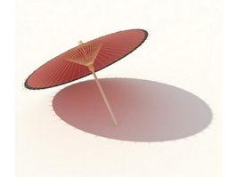Paper umbrella 3d model