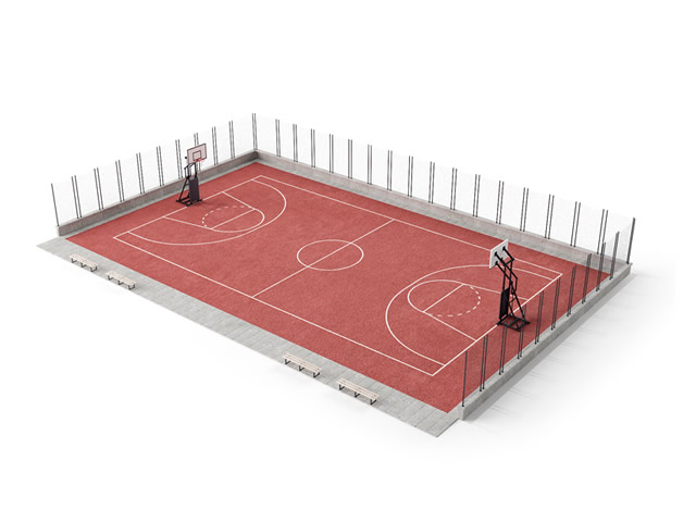 Basketball Court 3d Model 3dsMax Files Free Download