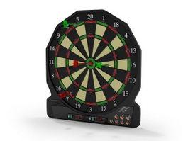 Digital dart board 3d model