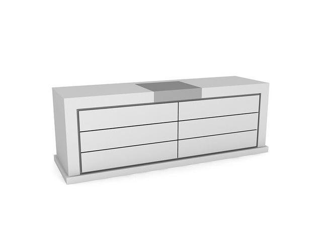 Living Room Side Cabinet 3d Model 3dsmax Files Free