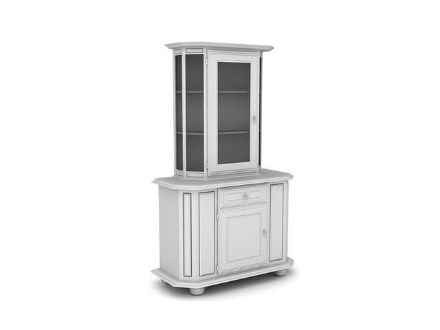 Corner Wine Cabinet 3d model 3dsMax files free download - modeling