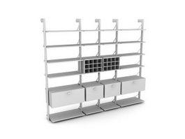 Display shelf for home 3d model