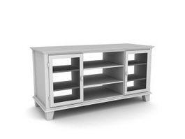3 shelf TV table 3d model