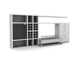 Combination wall cabinet furniture 3d model