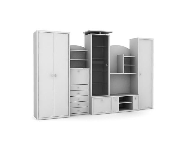 Bedroom Furniture 3d Models bedroom combination wardrobe furniture 3d model 3dsmax files free