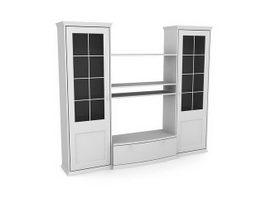 Large wardrobe armoire furniture 3d model