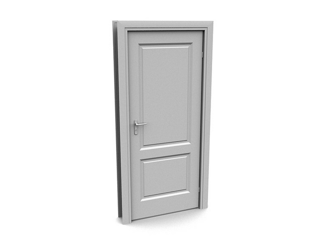 Simple Design Internal Door 3d Model 3dsmax Files Free