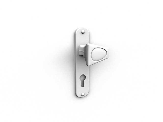 how to make a door handle in 3ds max