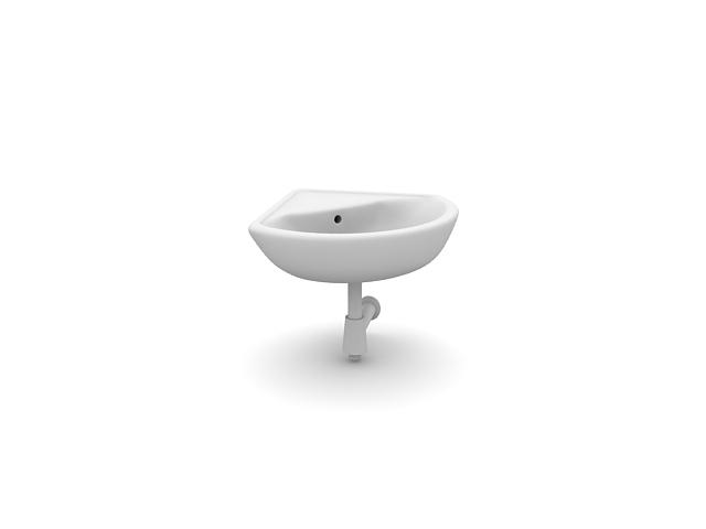 Sanitary ware 3d models   washbasin n211009 3d model (*. Gsm+*.