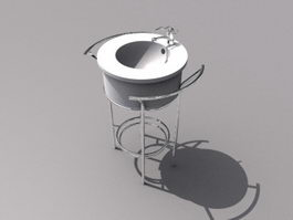 Free standing wash hand basin 3d model