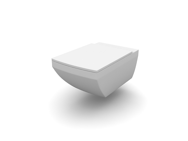 Wall Hung Water Closet Toilet 3D Model