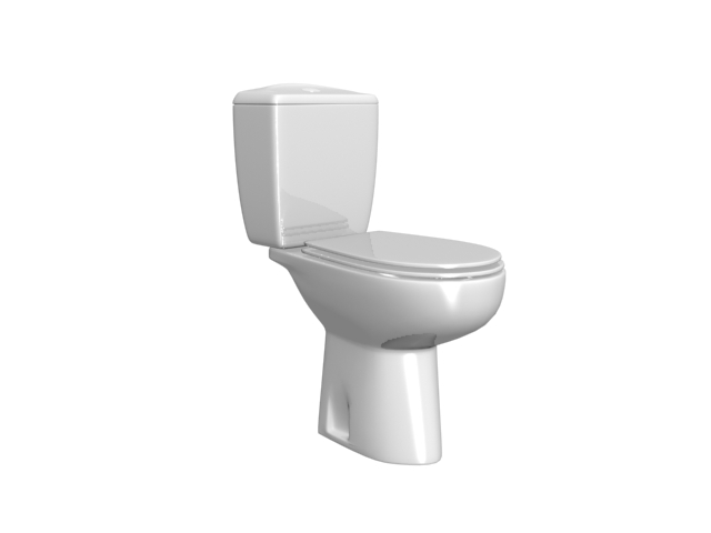 Washdown two piece toilet 3d model 3dsmax files free download