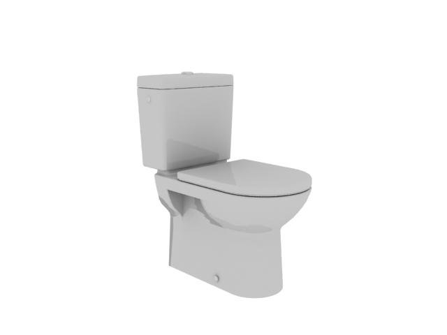 Standard two piece toilet 3d model 3dsmax files free download modeling 9127 on cadnav - Toilet model ...