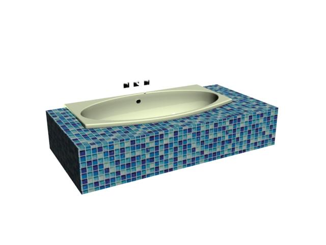 Bathtub swimming pool 3d model