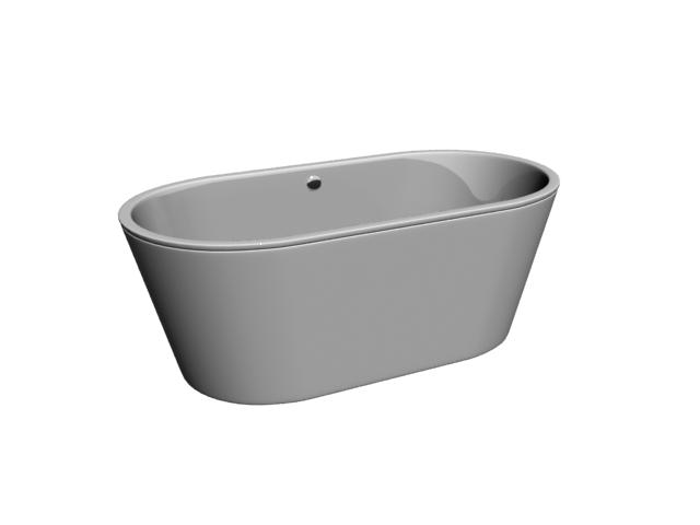 Free Standing Deep Bathtub 3d Model 3dsmax Files Free