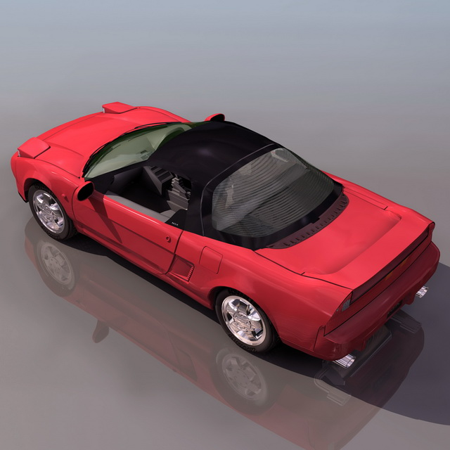Honda Acura NSX Sports Car 3d Model 3ds Files Free