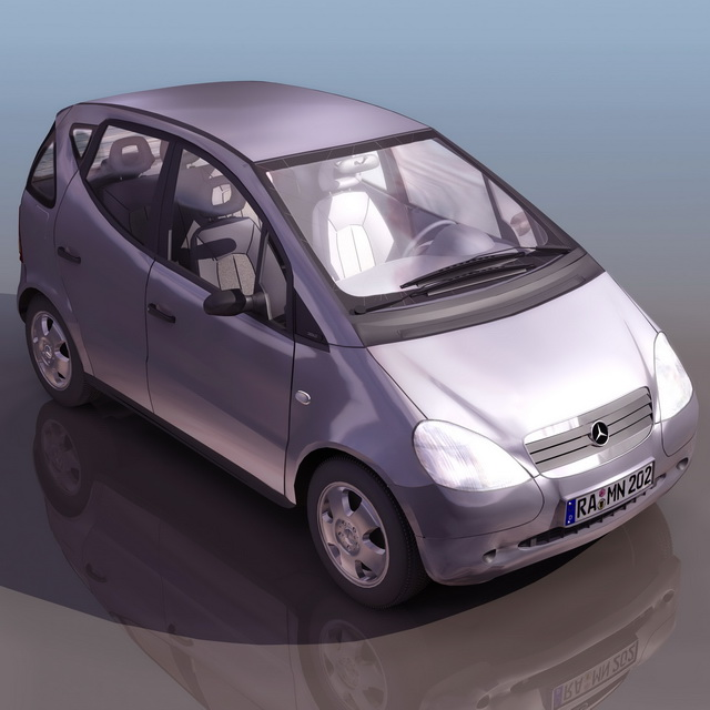 Mercedes benz a140 compact car 3d model 3ds files free for Mercedes benz compact car