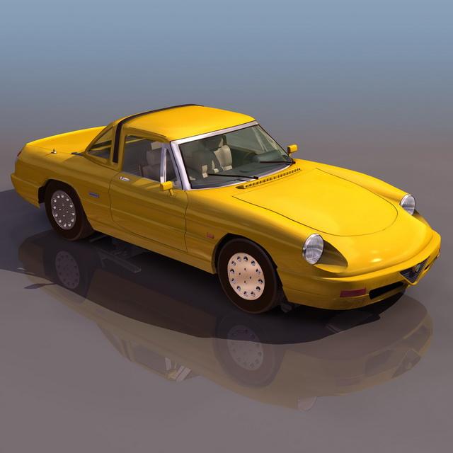 Alfa Romeo Spider 2-door Roadster 3d Model 3D Studio Files