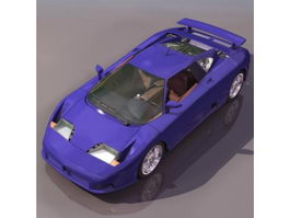 Bugatti EB110 mid-engine sports car 3d model