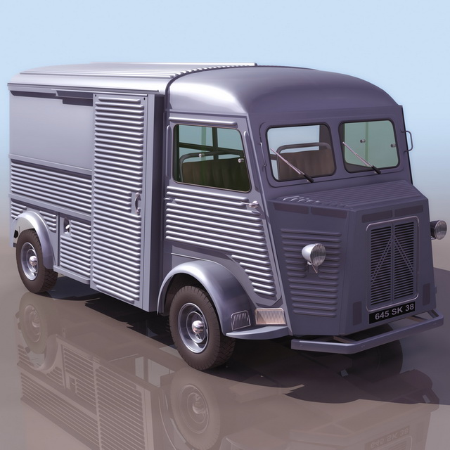 Citroen H Van Light Truck 3d Model 3ds Files Free Download