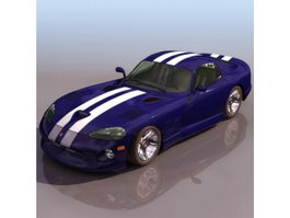 Dodge SRT Viper Sports car 3d model